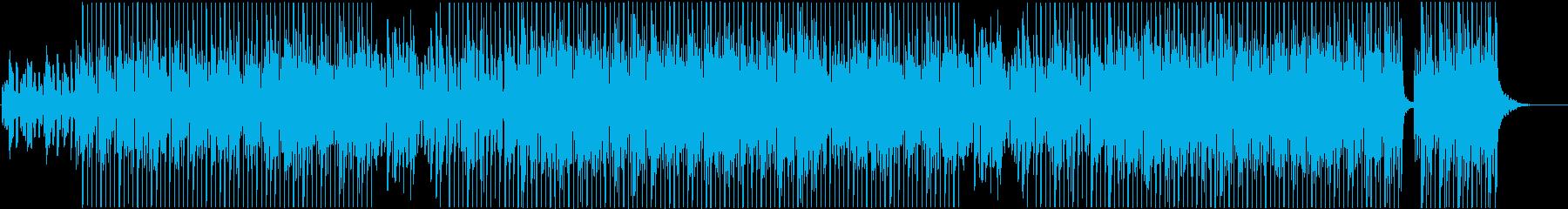 滑らかな躍動感のある大人ポップスの再生済みの波形