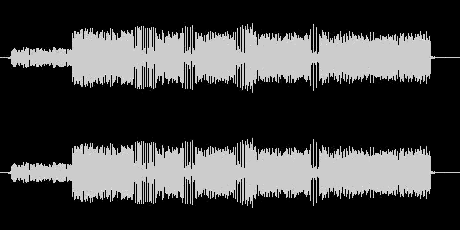 ファミコンの音で作ったゲーム中ミスした…の未再生の波形