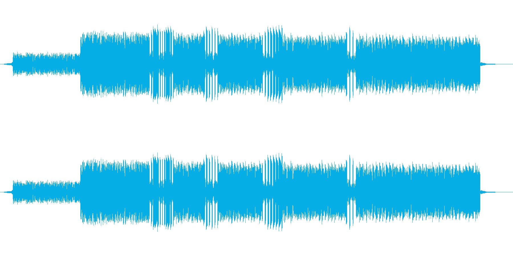 ファミコンの音で作ったゲーム中ミスした…の再生済みの波形