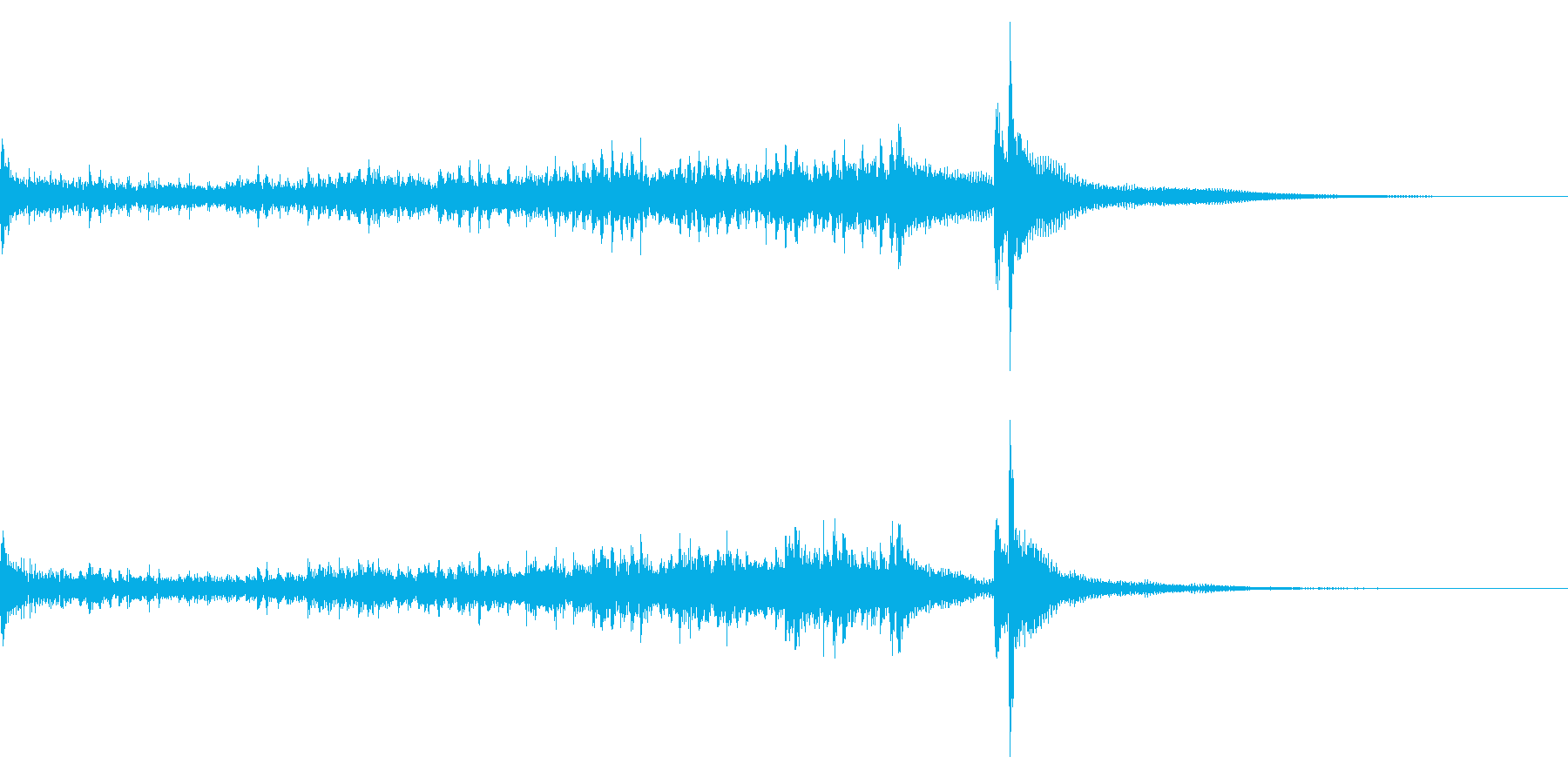 ティンパニーロールドドン☆ロング1の再生済みの波形
