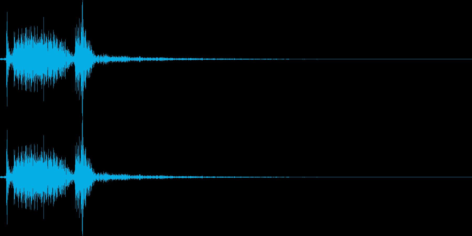 プシュ。プルタブを開ける音の再生済みの波形
