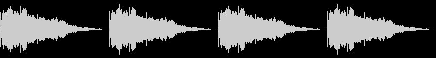 アラーム 警告音(ループ)の未再生の波形