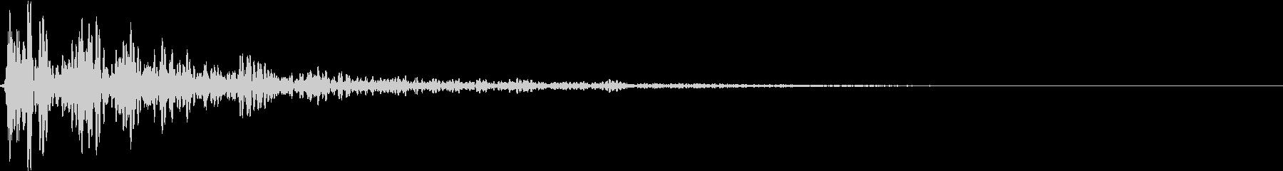どん:地鳴り・迫力・オープニングホラーgの未再生の波形