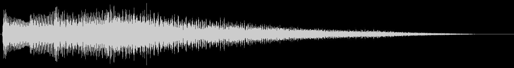 【ピアノ生演奏】イントロっぽいジングルの未再生の波形