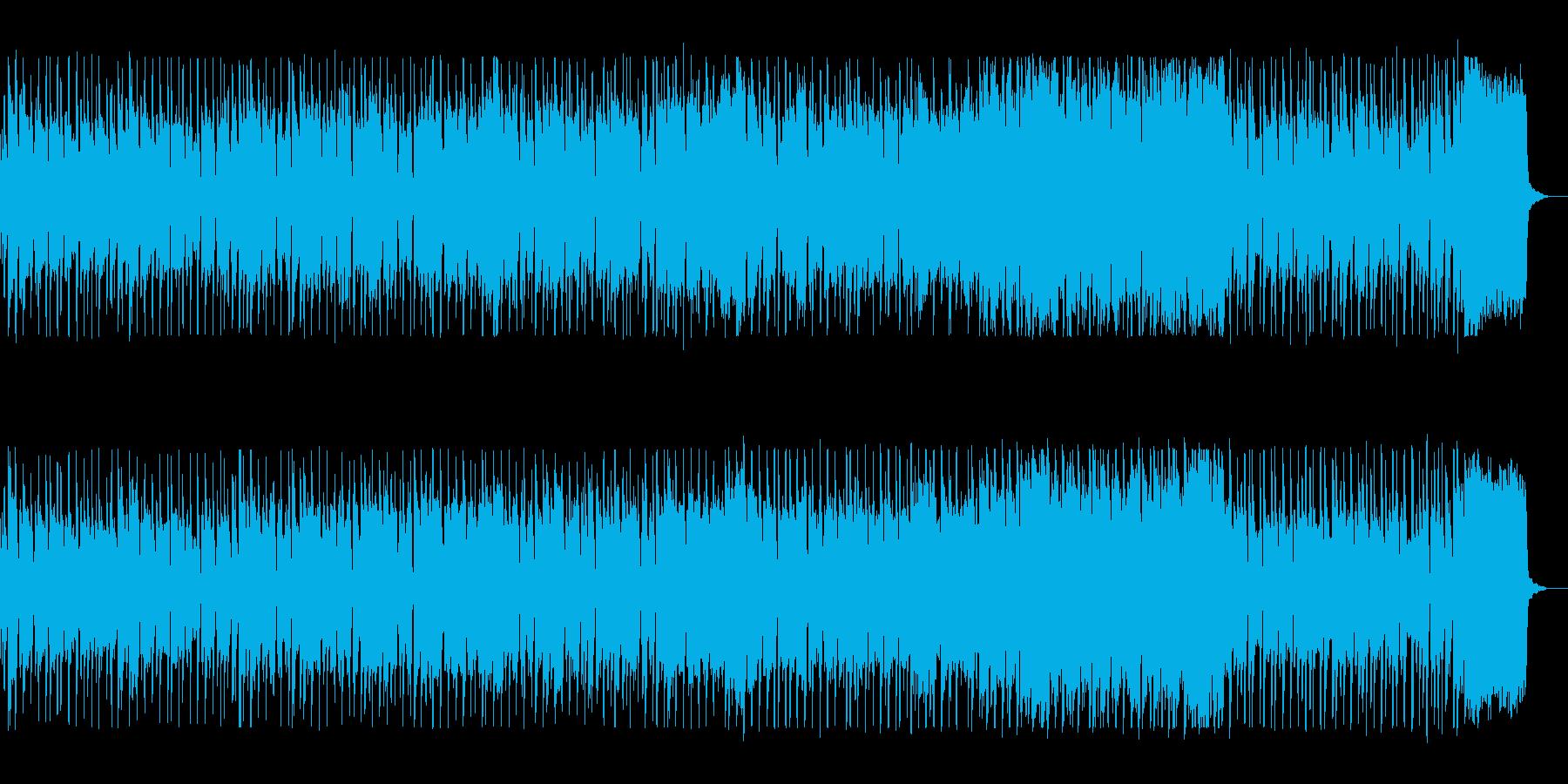 シンセの明るいアップテンポなポップスの再生済みの波形