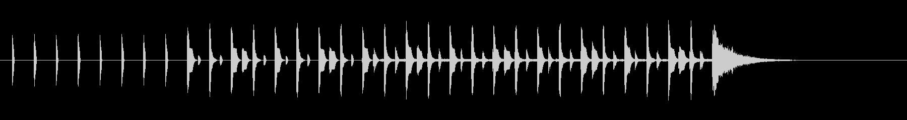 シンキングタイム15秒ピコピコサウンドの未再生の波形