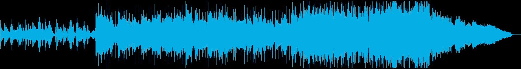 笛の音が心地よいヒーリングミュージックの再生済みの波形