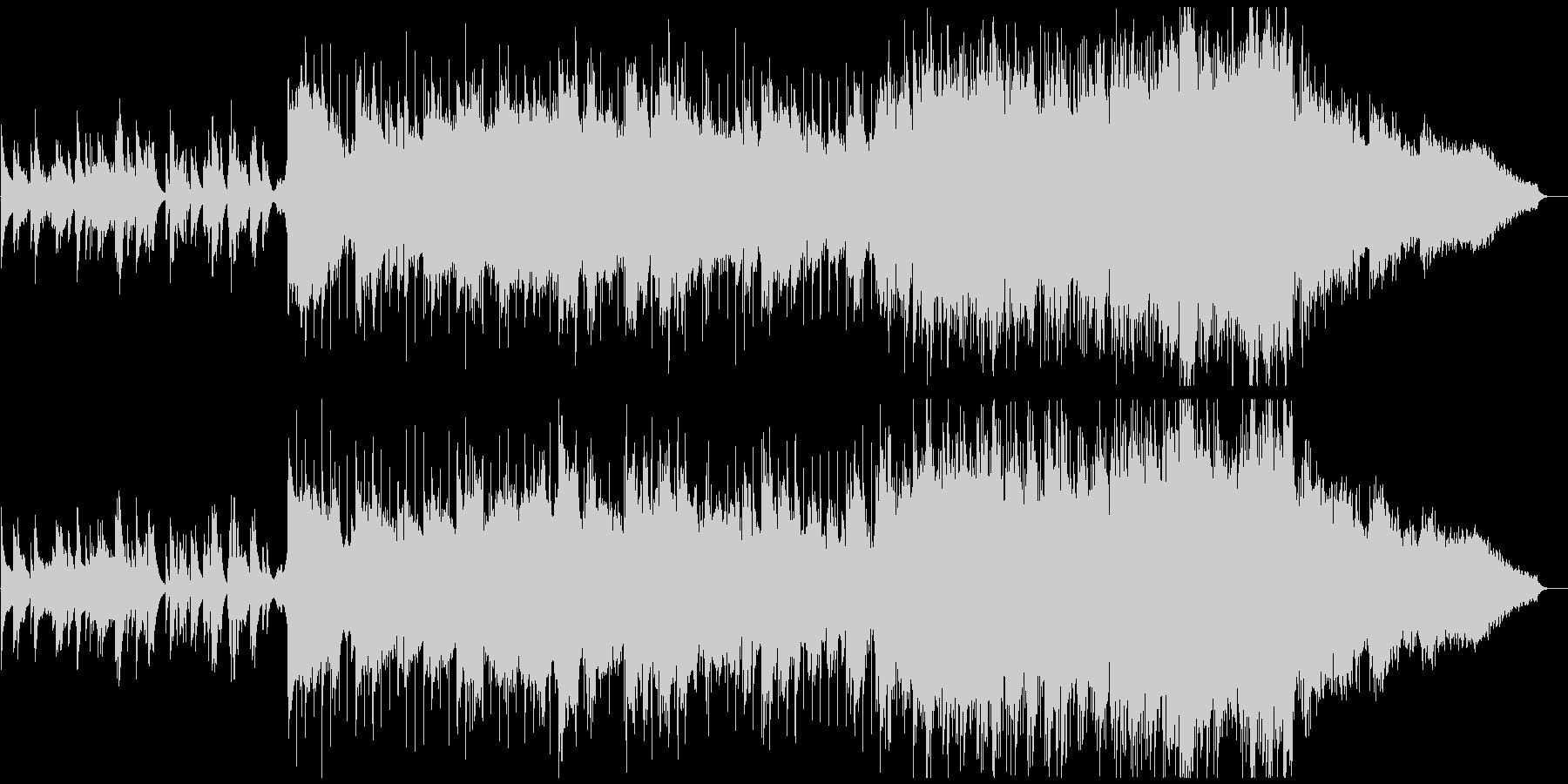 笛の音が心地よいヒーリングミュージックの未再生の波形