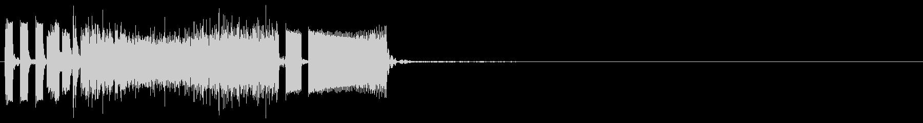 クイックビープ音の未再生の波形