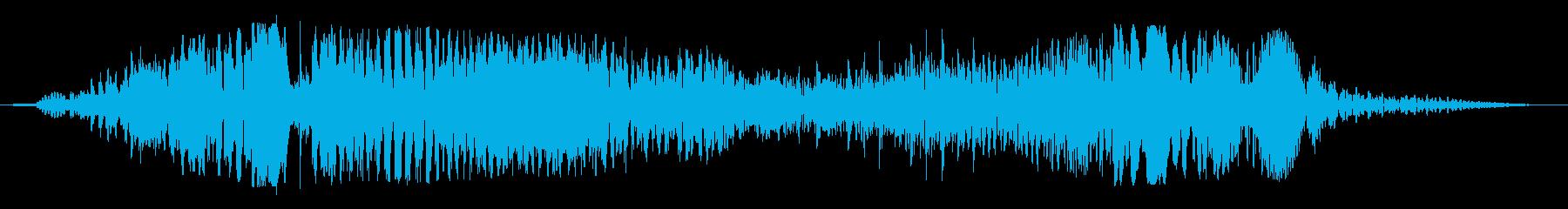 生命維持装置の作動音の再生済みの波形