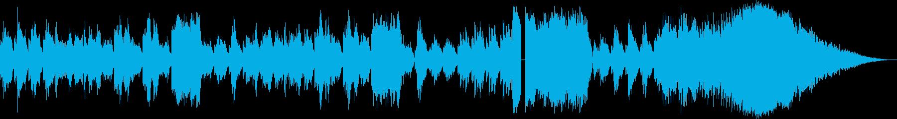 キラキラとした旋律のピアノソロBGMの再生済みの波形