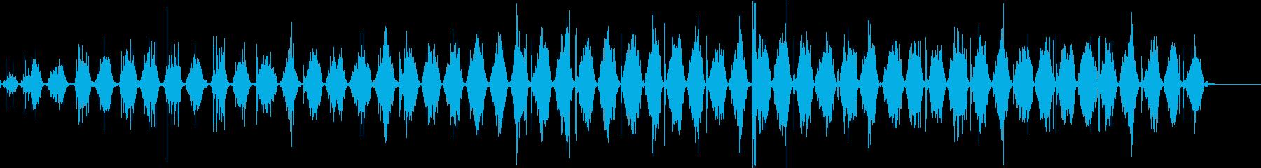 【生録音】ノコギリで物を切る音 4の再生済みの波形