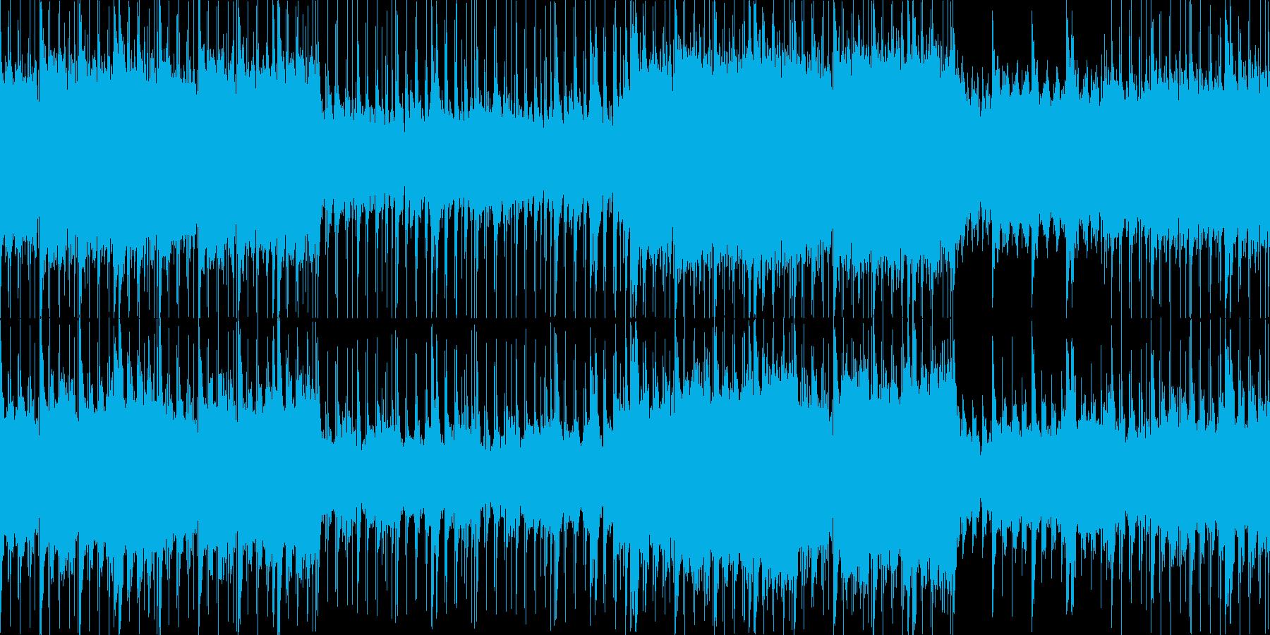 少し不気味で洞窟探検をするような曲の再生済みの波形