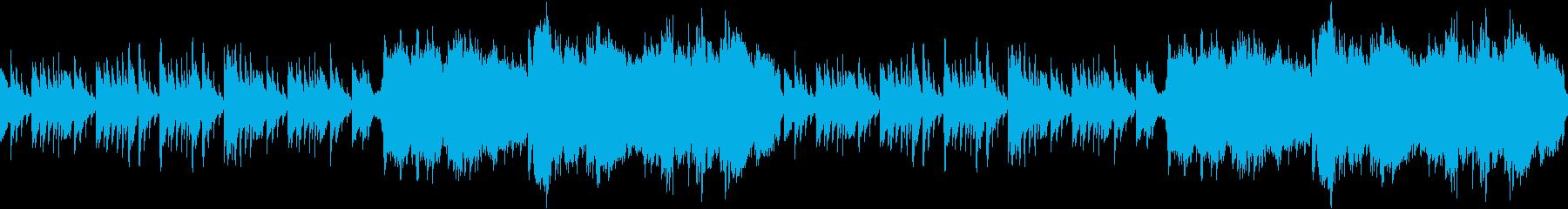 ゲームのタイトル画面に!神秘的なピアノの再生済みの波形