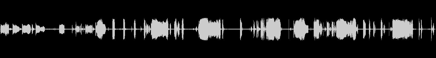 ささやき声子供または赤ちゃんの声の...の未再生の波形