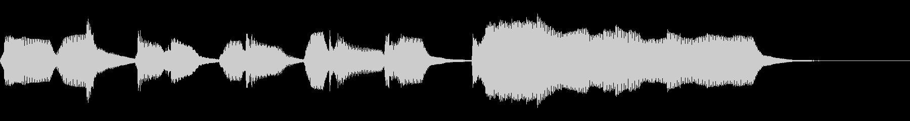 5秒の子供向けかわいいリコーダージングルの未再生の波形
