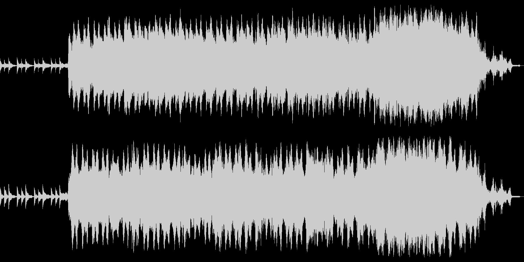 重苦しいピアノアンビエントの未再生の波形