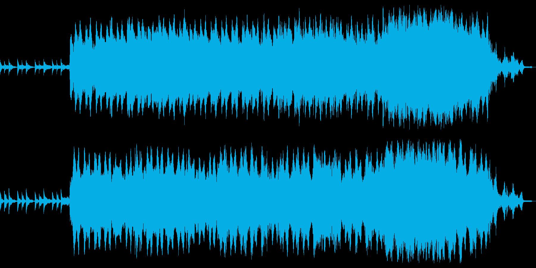 重苦しいピアノアンビエントの再生済みの波形