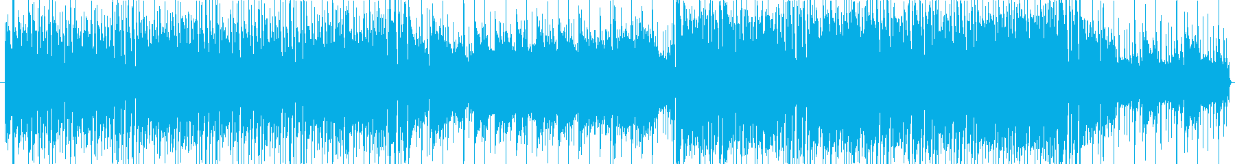 綺麗なピアノの疾走感の再生済みの波形
