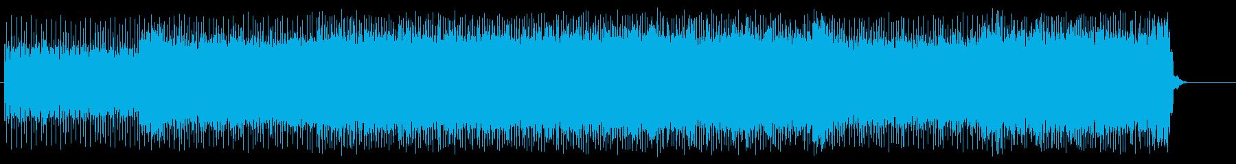 カーレースを連想させるスポーティなロックの再生済みの波形