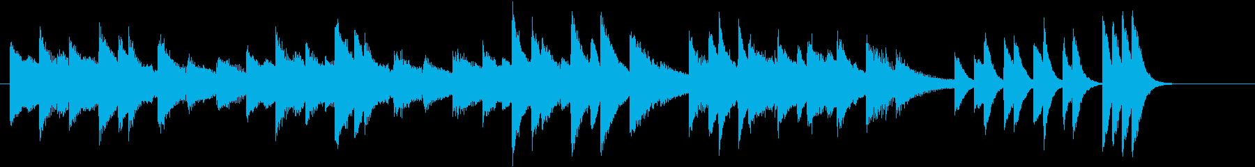 ウインターワンダーランドピアノジングルDの再生済みの波形