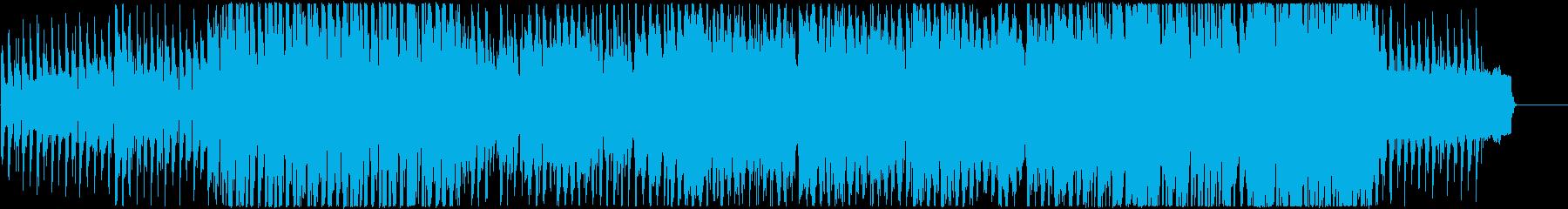 アコーディオン、シンセの可愛い系BGMの再生済みの波形