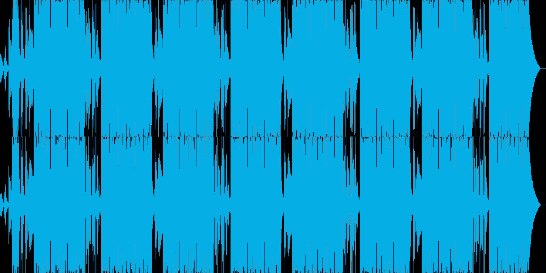 ファンキーでリズミカルなサウンドの再生済みの波形