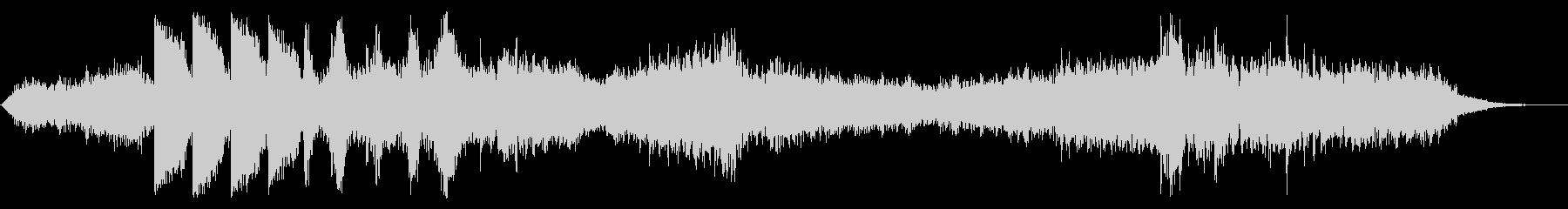 ダークなアンビエント ブラス無版の未再生の波形