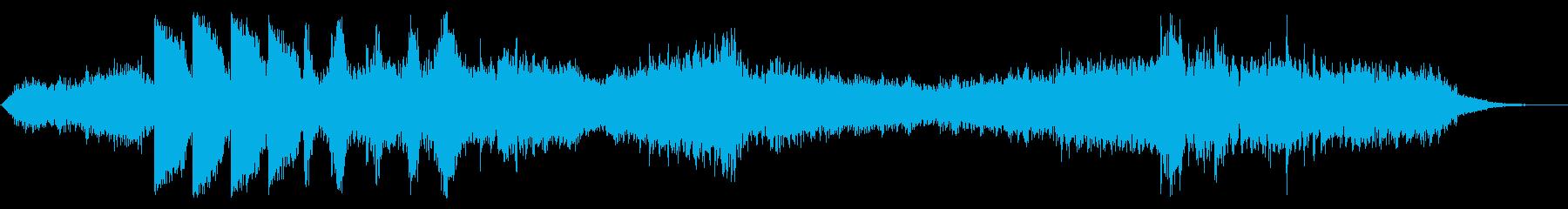 ダークなアンビエント ブラス無版の再生済みの波形