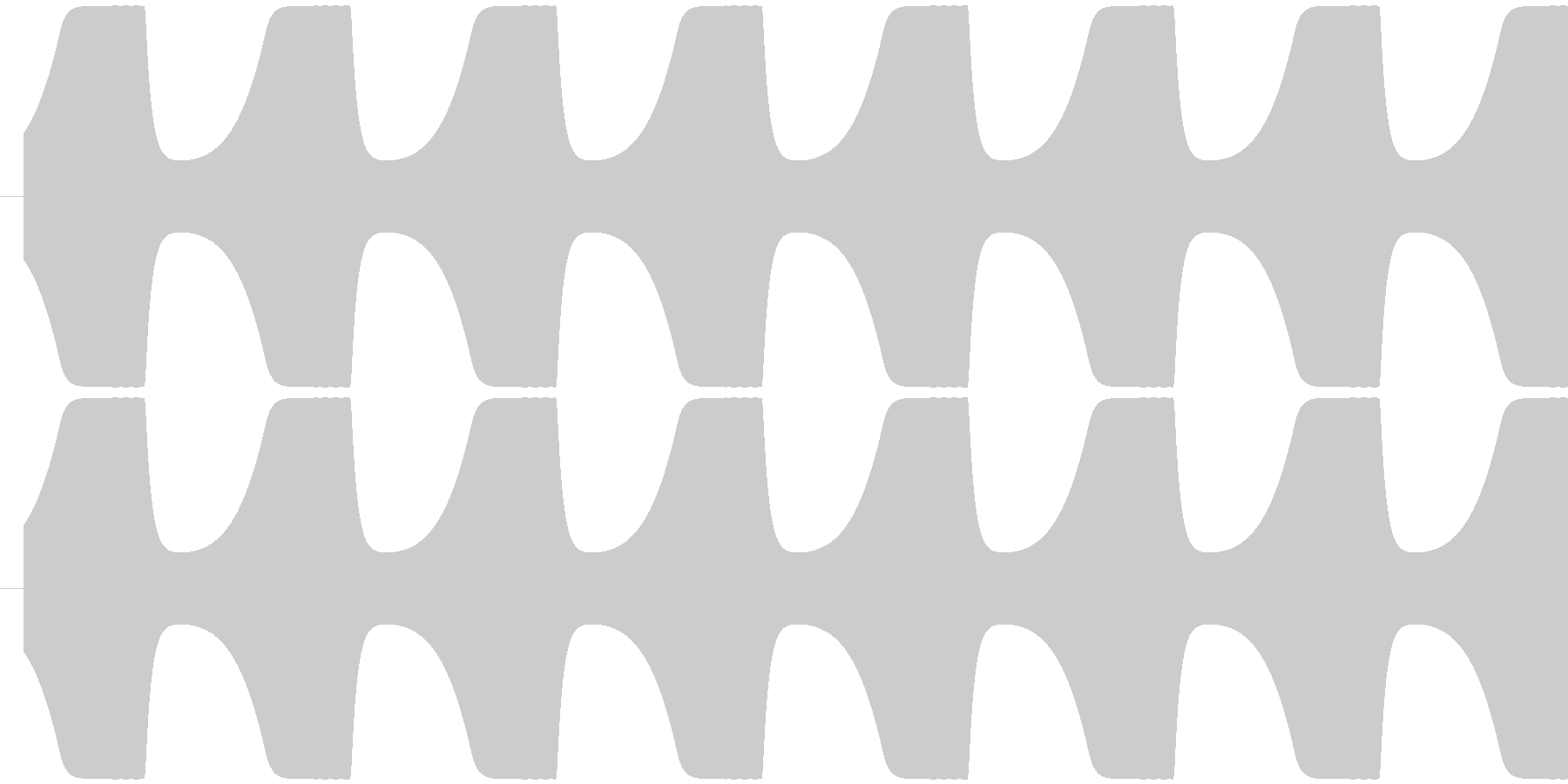 ゲームテキスト効果音A-5(低め 短い)の未再生の波形