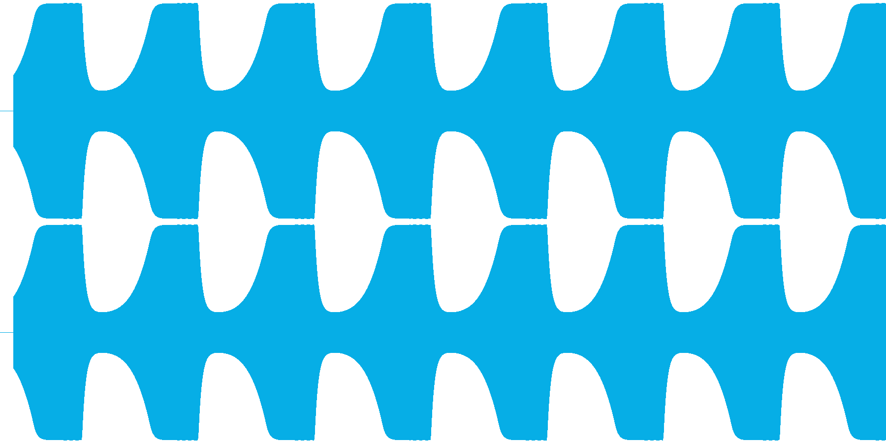 ゲームテキスト効果音A-5(低め 短い)の再生済みの波形