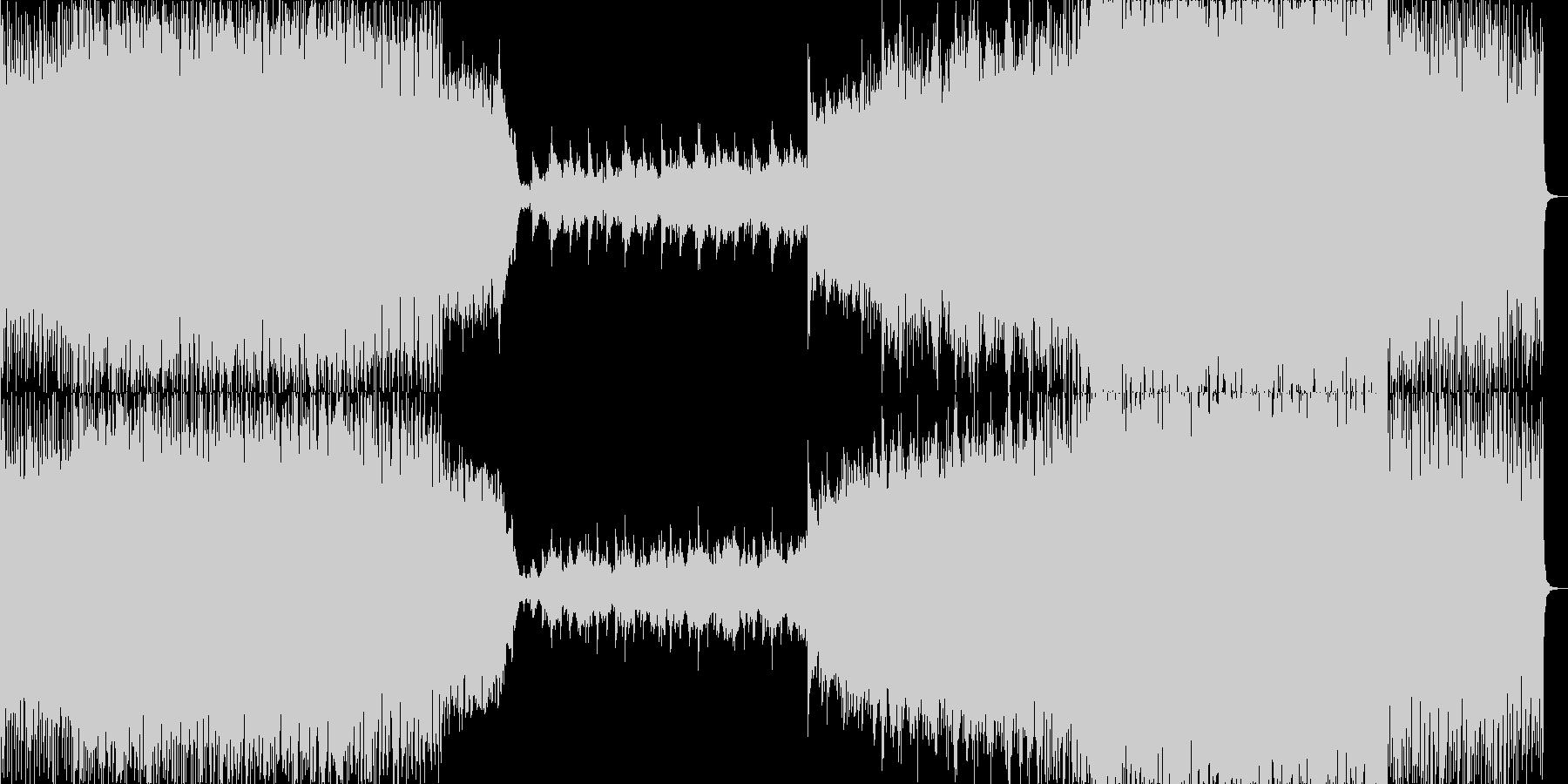 高揚感のあるピアノトランスの未再生の波形