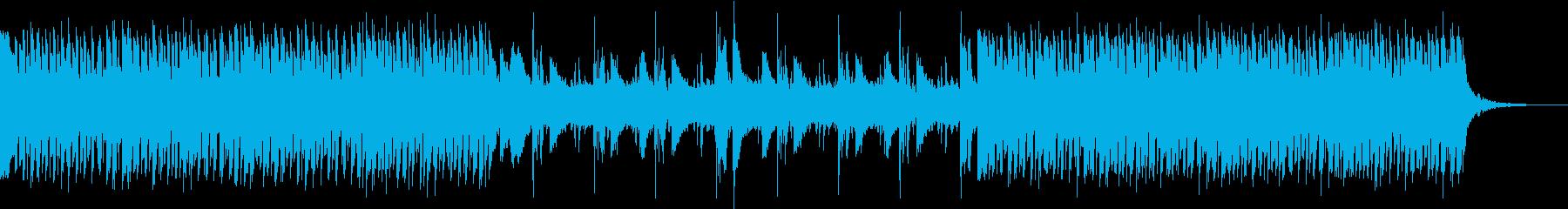 ピアノがクールさを演出する四つ打ち曲の再生済みの波形