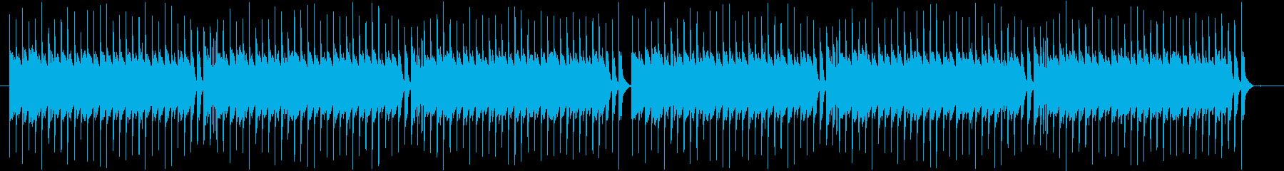和風ドタバタ曲の再生済みの波形