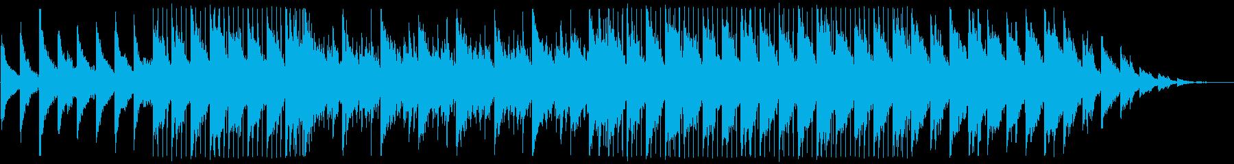 ピアノがキラキラ綺麗なBGM7の再生済みの波形