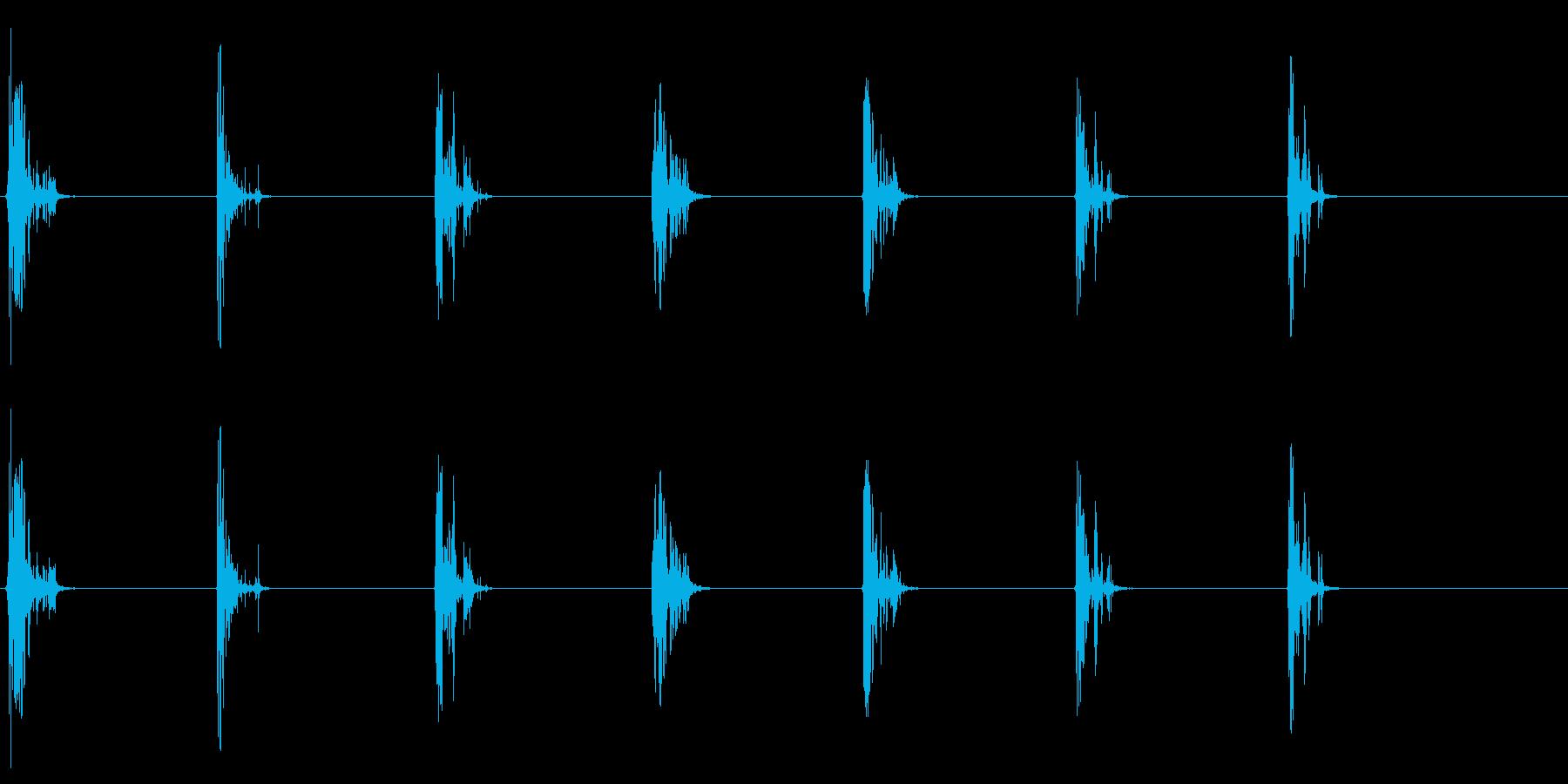[生録音]ゴクゴクゴク…飲み込む音06の再生済みの波形