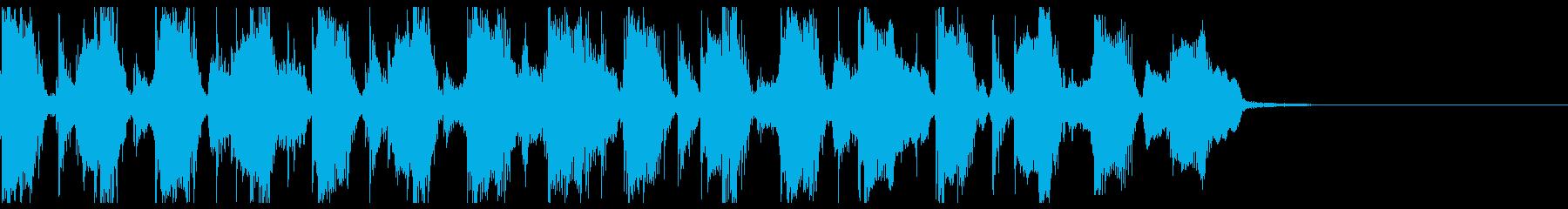 Afro Techなシンキングタイム音の再生済みの波形