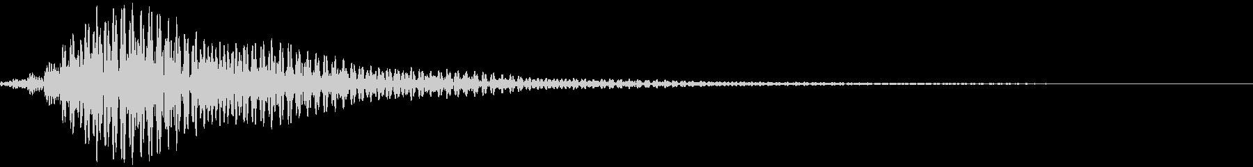 ブワーン(画面の電源が入るような音)の未再生の波形