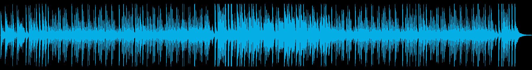 ほのぼの日常、コミカルでルンルンな曲Aの再生済みの波形