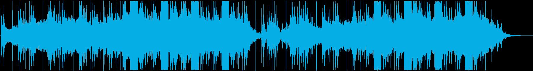恐怖を演出するシンセサウンドの再生済みの波形