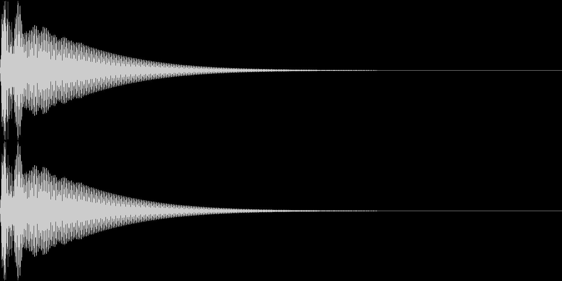 Cap フタ・栓を開ける音 12の未再生の波形