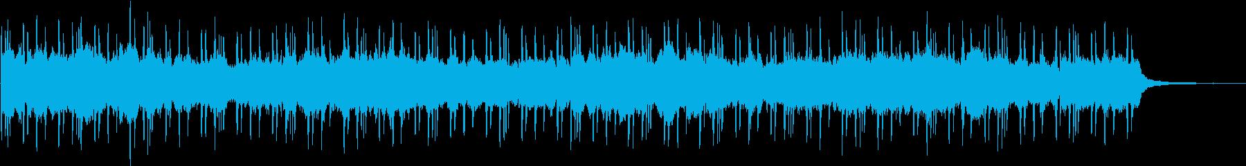 報道番組にありそうなBGMの再生済みの波形
