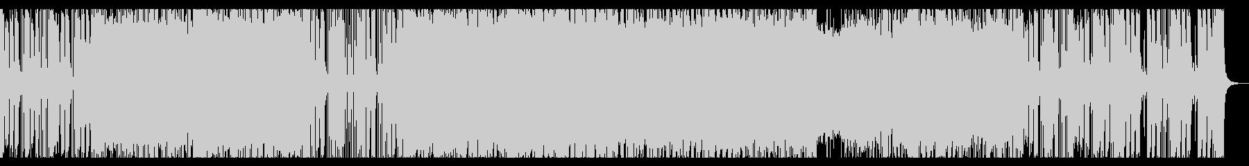 激しいロック調のオープニングの未再生の波形