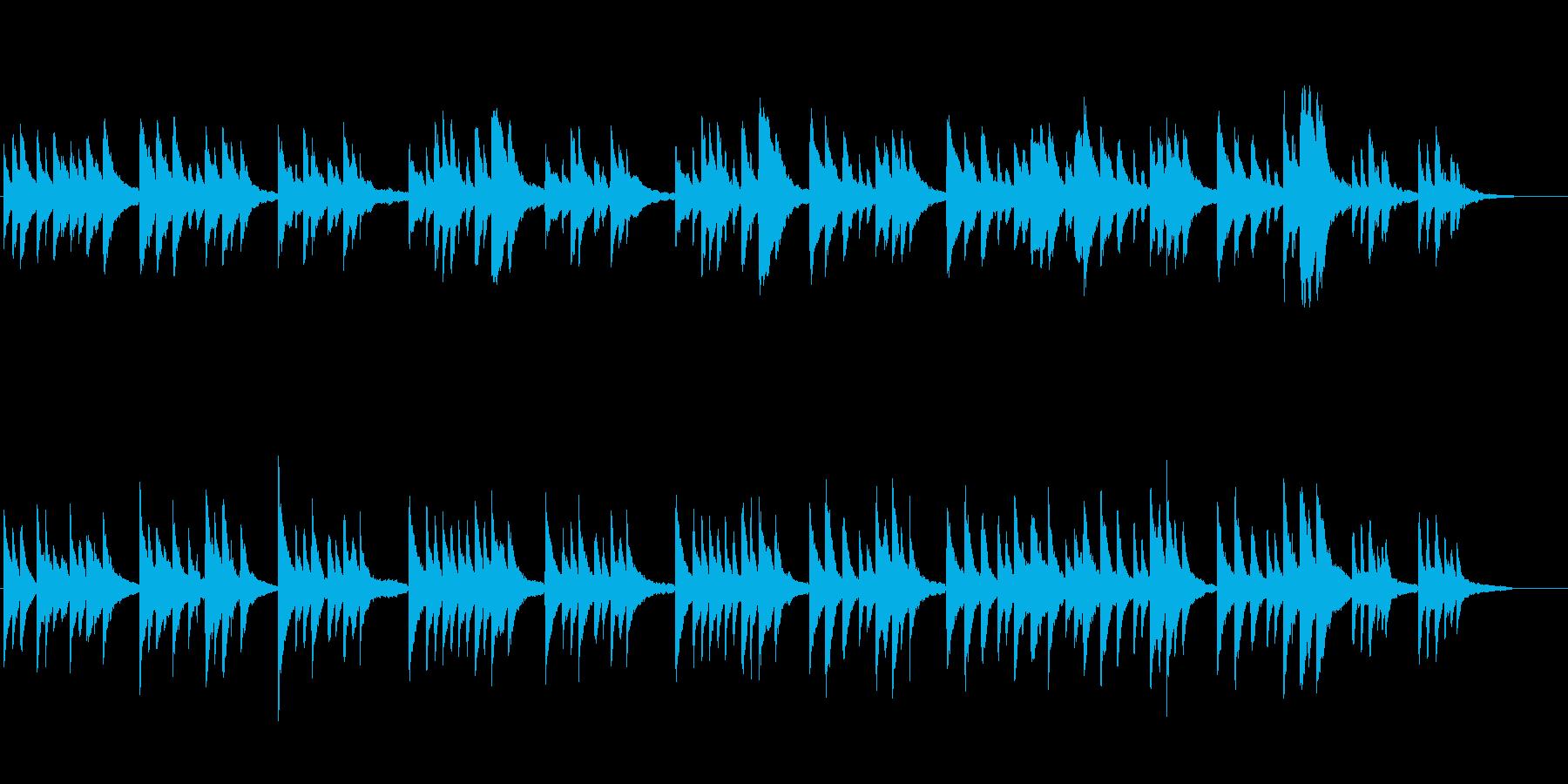 雅な雰囲気の日本的な曲[piano]の再生済みの波形