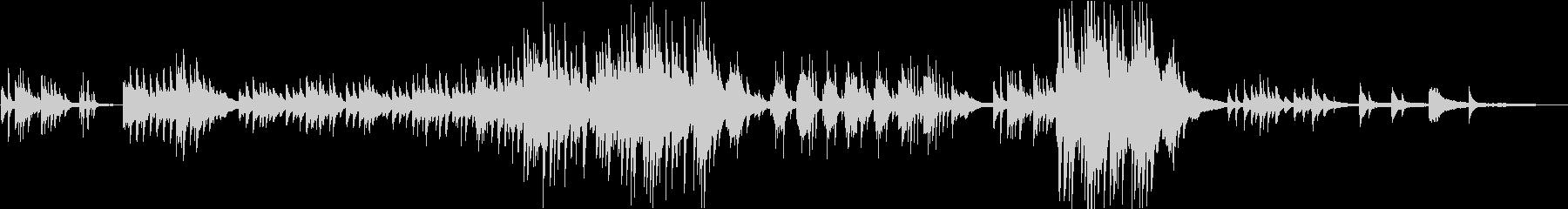 「エンディング向け」切ないピアノソロの未再生の波形