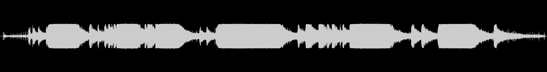 チェーンソー-起動、実行、オフの未再生の波形