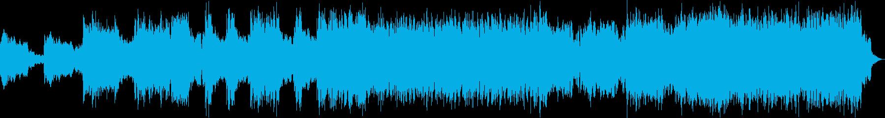 テクノ系アクションかっこいい系の再生済みの波形