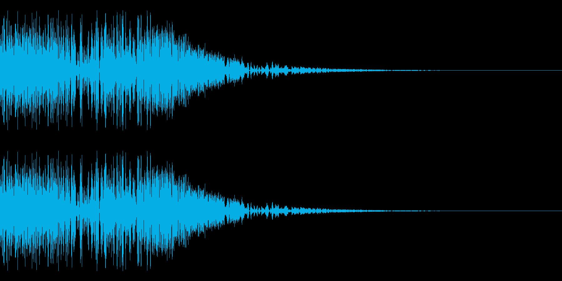 バシャッ05(水・液体系のアクション音)の再生済みの波形