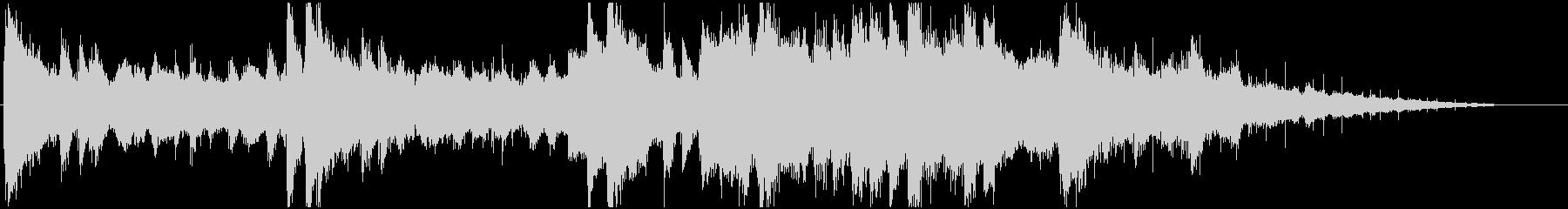 ピアノとアンビエントサウンドの未再生の波形