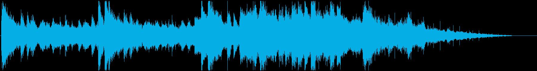 ピアノとアンビエントサウンドの再生済みの波形
